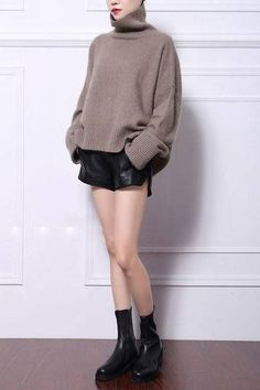 100% Brand New & High Quality  Specifications: Loose pullover with turtleneck feature. Neckline, waistline, and cuffs are ribbed to give a neat balance to its relaxed style.  Size: One size fits most Colors: Black, Gray, Khaki, Yellow, Army Green, Blue, Sky Blue, Purple, Lavender,