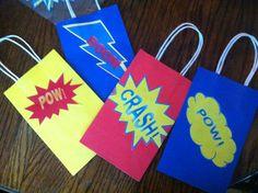 DIY super hero gift bags