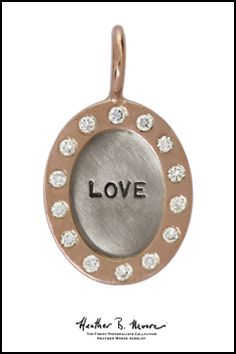 Heather B. Moore Silver & Gold Diamond Love Charm, $1,340.00