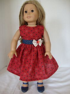 Handmade American Girl Doll Clothes Red by VernasThreadedNeedle
