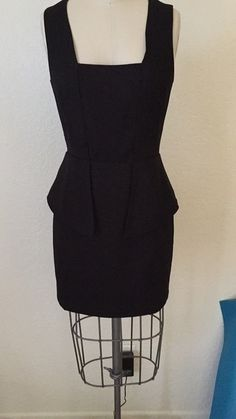 Great dress for work and special occasions. #blackdress #peplumdress #sheerback