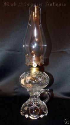 Early 1900's Moon Finger Oil Lamp Table Lamp | eBay