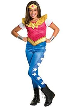 DC SuperHero Wonder Woman Costume for Kids I want to be wonder woman for halloween she is incredible! #DCcomics #wonderwoman #halloween #halloween2017 #superhero
