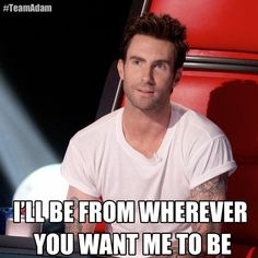 Oh, the stuff coaches will say to sway an artist… #TheVoice #TeamAdam