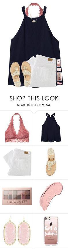 """spring"" by hgw8503 ❤ liked on Polyvore featuring Victoria's Secret, MANGO, Paige Denim, Jack Rogers, Maybelline, NYX, Kendra Scott and Casetify"