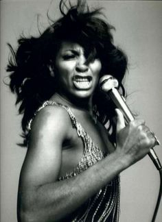 Very strong woman, and awesome singer :) Tina Turner (circa 1960s)