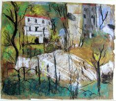 Place Vintimille (also known as Berlioz Park) Edouard Vuillard - 1915
