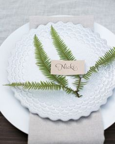 At Each Seat - Nicki And Mike's Rustic Wedding In The Northern California Woods