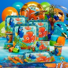 Disney Nemos Coral Reef Basic Party Pack for 8    $20.00 Facebook.com/chateaubelleconcierge