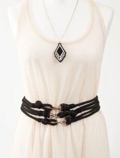 Rope Waist Belt. 10 Beautiful DIY Belts