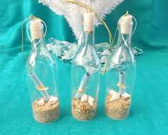 Message in a Bottle Ornament by TheGreenEyedTurtle on Etsy, $5.00