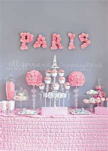 Pink and white decor with a grey backdrop is stunning... Perfect kitchen tea or baby shower colour scheme (: