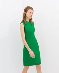 ZARA - WOMAN - PLEATED SHIFT DRESS