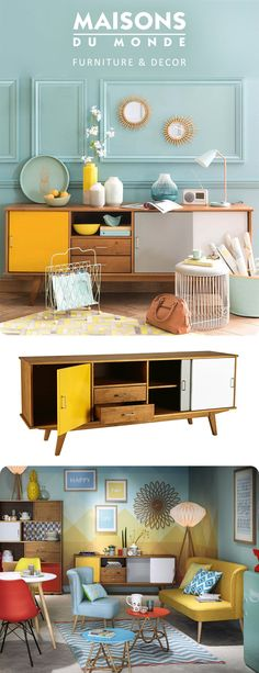 A Pop of positivity from our PAULETTE retro sideboard | Maisons du Monde