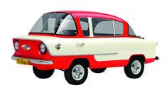 Belka A50 (Squirrel) compact car project, prototype designed by Yuri Dolmatovsky, Vladimir Aryamov, Zeyvang K, K. Korzinkin and A. Oksentevich, 1955-56.