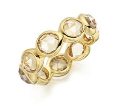 Siren Eternity Ring Large in 18ct Gold Plated Vermeil on Sterling Silver with Citrine