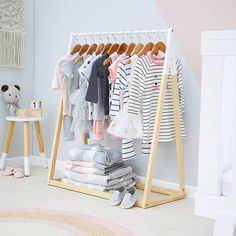 Oooh so sweet! I'll be on the hunt for one of these @kmartaus mini clothes racks tomorrow {$20} as i start to prep for Miss Stellas 4th…
