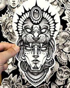 Full Leg Tattoos, Face Tattoos, Sleeve Tattoos, Sketch Tattoo Design, Tattoo Sketches, Tattoo Drawings, Neo Tattoo, Dark Tattoo, Yantra Tattoo