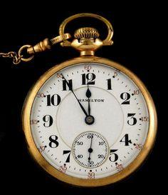 Vintage Hamilton 992 Railroad Pocket Watch 16s 21j c1924