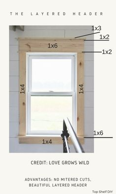 How to Measure for Craftsman Trim (Before Ripping Anything Out) - Top Shelf DIY Farmhouse Trim, Farmhouse Windows, Interior Windows, Interior Trim, Moldings And Trim, Window Molding Trim, Window Trims, Window Casing, Door Trims