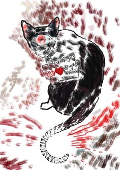 """Bosquejo de """"El gato llamado Soledad"""" (The Cat Named Loneliness) de Hernán Ergueta #hernanergueta #ilustracion #cuentos"""