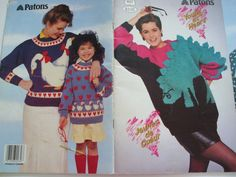 Second Silver - 607 Young at heart patons knitting patterns animal graph adult child