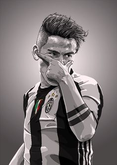 Paulo Dybala is a new idol Art Football, Football 2018, Ronaldo Football, Soccer Art, Football Is Life, Football Celebrations, Portrait Vector, Cr7 Junior, Cr7 Messi