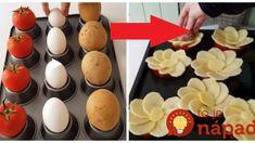 Vzal 4 zemiaky, vajcia a rajčiny: Keď uvidíte nápad tohoto šéfkuchára, ani vám nenapadne robiť pre návštevy chlebíčky! Starters, Ham, Sushi, Food And Drink, Eggs, Yummy Food, Cooking, Breakfast, Ethnic Recipes