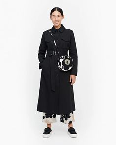 The Juttu trench coat is made of firm cotton twill. The coat has breast patch pockets with flaps, a button list, diagonal slit pockets in the front and a detachable belt with a metal buckle. The coat is lined. Normal Body, Most Beautiful Dresses, Marimekko, Long Toes, Pattern Mixing, Metal Buckles, My Size, Dress Skirt, Jackets