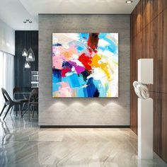 Extra Large Wall Art on Canvas, Original Abstract Paintings , Contemporary Art, Mdoern Living Room Decor ,Office Oversize Artworks Large Abstract Wall Art, Floral Wall Art, Canvas Wall Art, Wall Art Prints, Canvas Walls, Unique Paintings, Abstract Paintings, Canvas Paintings, Bathroom Paintings