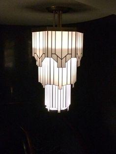 Beautiful Art Deco lighting at Hawksmoor in London Piccadilly Circus.