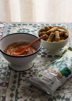 Sobrasada vegetal #vegano #singluten #sinlactosa Sin Gluten, Chocolate Fondue, Cereal, Breakfast, Desserts, Food, Lactose Free, Vegans, Cooking