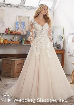 Mori Lee Maira | ong Sleeve Lace Bridal Gown