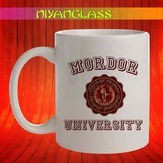 Mordor University mug, Mordo... from Niyanglass on Wanelo
