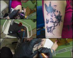 #tattoo #tatuaggio #cheyennehawk #tattooartist #tattoogirl  #suicidegirl #inkedgirl #tattooing #watercolor #eternalink #ink #artist #skinart #blackandwhite #picoftheday #watercolortattoo  #inkideas #inked #tattooart #drawing #selfie #sketch #inkedup #tattooer #flower #fiore #giglio #farfalla #butterfly