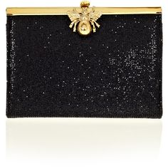 Wilbur And Gussie Coco Clutch With Bee Clasp ($385) ❤ liked on Polyvore