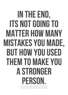 Mistakes are learning lessons