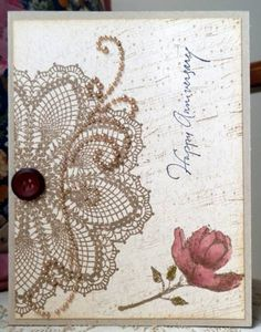 TLC381 - Half Doily by BobbiesGirl - Cards and Paper Crafts at Splitcoaststampers
