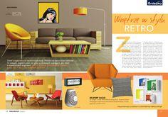Jesienne wydanie Dekoratorium coraz bliżej, coraz bliżej :) Floor Chair, Flooring, Retro, Furniture, Home Decor, Decoration Home, Room Decor, Wood Flooring, Home Furnishings