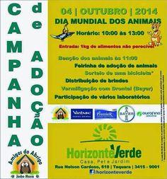 Bonde da Bardot: RJ: ADOÇÃO DE ANIMAIS NA TAQUARA, NESTE SÁBADO (04/10)