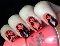 Nail Polish Wars: Russian babushka dolls  #nail #nails #nailart
