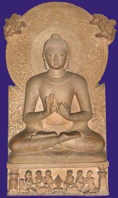 Seated Buddha Preaching the Dharma | Gupta Period (5th c.) \ Sarnath Museum