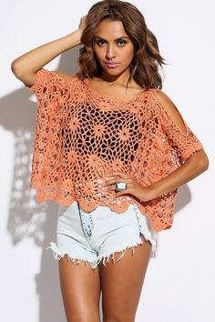 Lacy poncho in crochet Poncho calado en Ganchillo - Crochet>MANY CHARTS for…