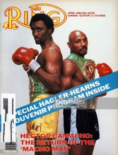 Ring Magazine Cover Thomas Hearns and Marvin Hagler on the cover