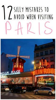 12 errores tontos a evitar al visitar París