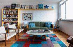 Mistura colorida, decoração despojada