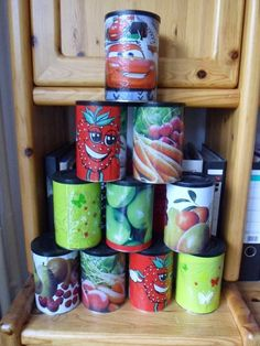 Wurfspiel aus Kaffeedosen / Tin Can Alley made of coffee containers / Children's birthday party / Upcycling