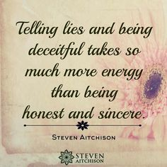 Telling lies and being deceitful