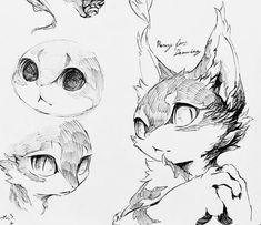 Animal sketches, animal drawings, furry drawing, cat drawing, comic style a Furry Drawing, Cat Drawing, Drawing Sketches, Drawing Ideas, Cat Sketch, Cartoon Drawing Tutorial, Cartoon Drawings, Animal Sketches, Animal Drawings