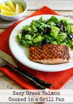 I love salmon and I love Greek seasoning, so this Easy Greek Salmon Cooked in a Grill pan was winner for me! And this tasty salmon is low-carb, Keto, low-glycemic, gluten-free, dairy-free, and South Beach Diet friendly. Use the Recipes-by-Diet-Type Index to find more recipes like this one. I love cooking salmon on an outdoor barbecue grill, but…